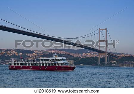 Stock Photograph of The Fatih Sultan Mehmet Bridge, also known as.