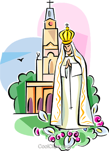 Free clip art our lady of fatima.