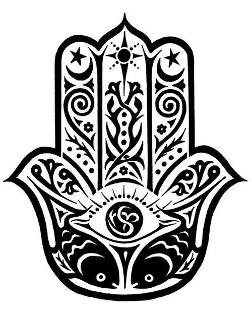 Hand of fatima clipart.