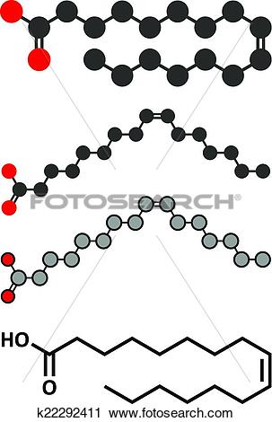 Clipart of Palmitoleic acid (omega.