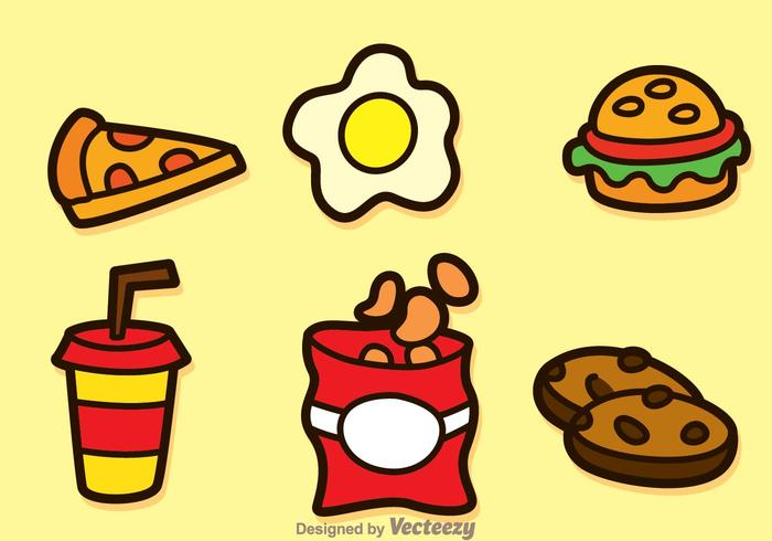 Fatty Food Icons.