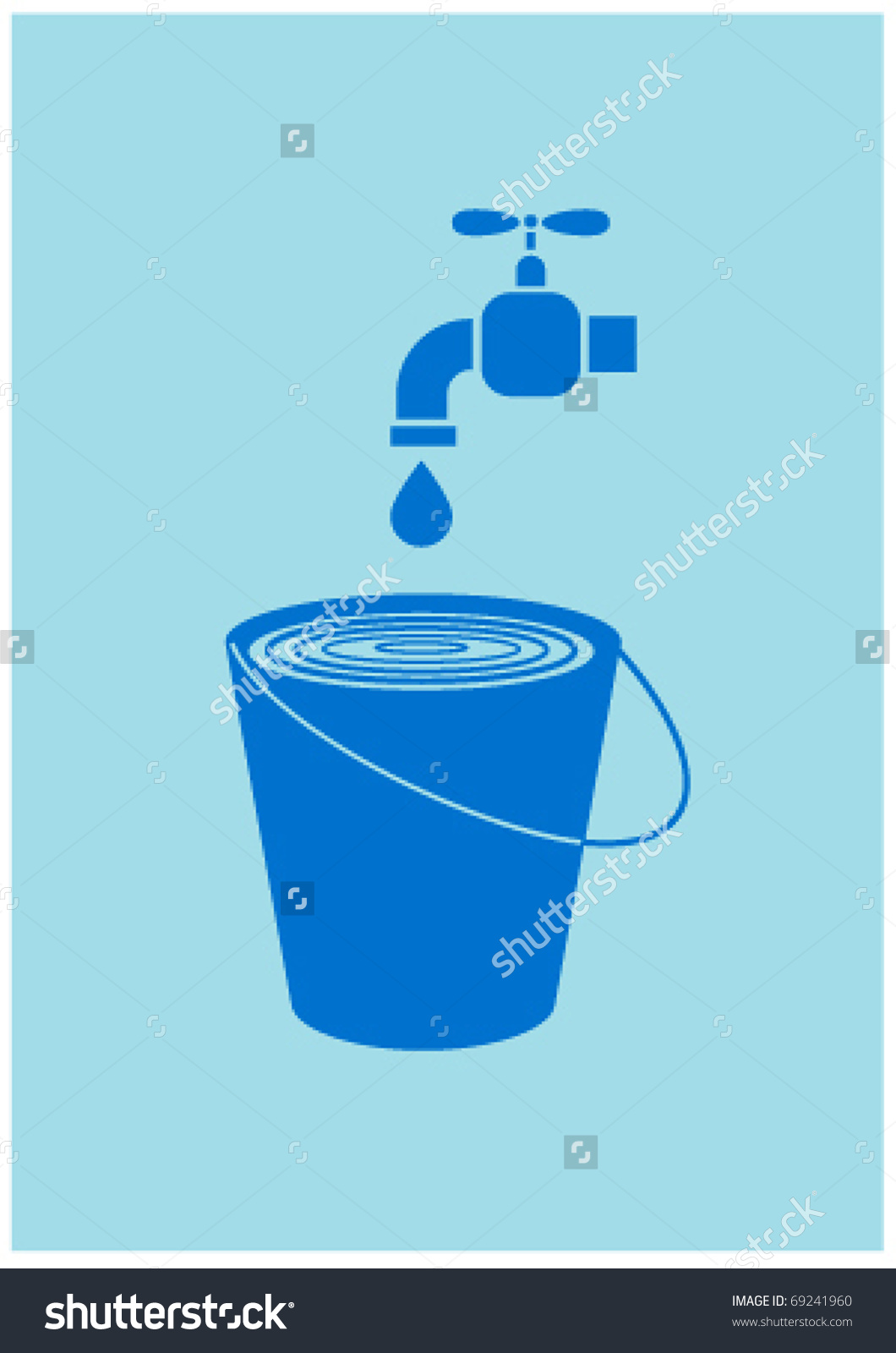 Water Tap Stock Vector 69241960.