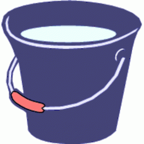 Clipart Of A Garden Watering Pail.