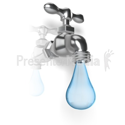 water pouring from bucket.
