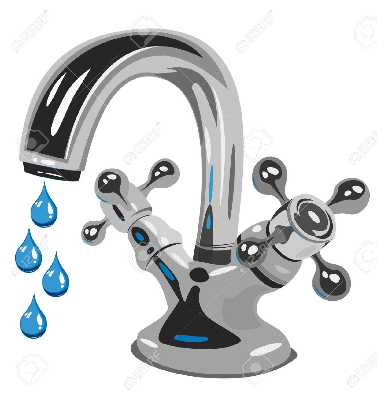 Low Flow Bathtub Faucets Clip Art.