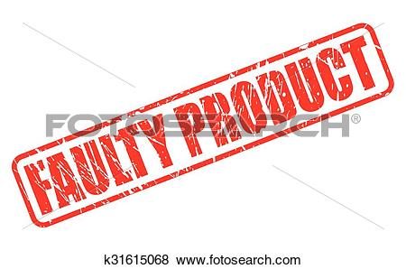 Clip Art of FAULTY PRODUCT red stamp text k31615068.