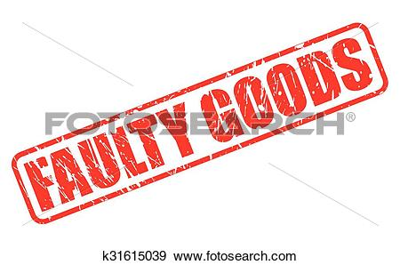 Clip Art of FAULTY GOODS red stamp text k31615039.