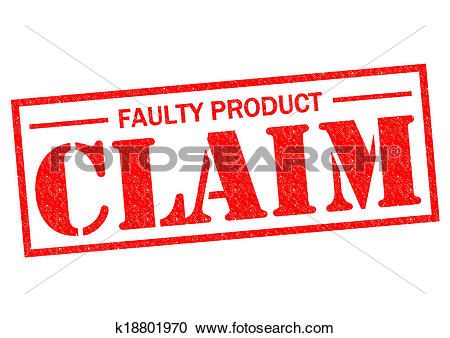 Stock Illustrations of FAULTY PRODUCT CLAIM k18801970.