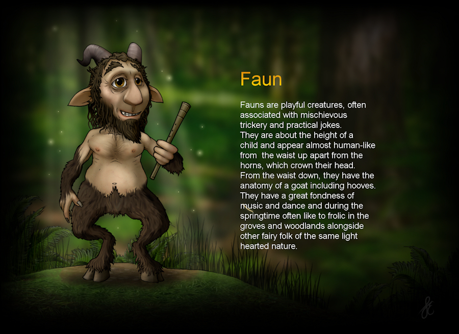 Faun : Ickle Peeps, Cute Fantasy Art, Graphics and clipart by.