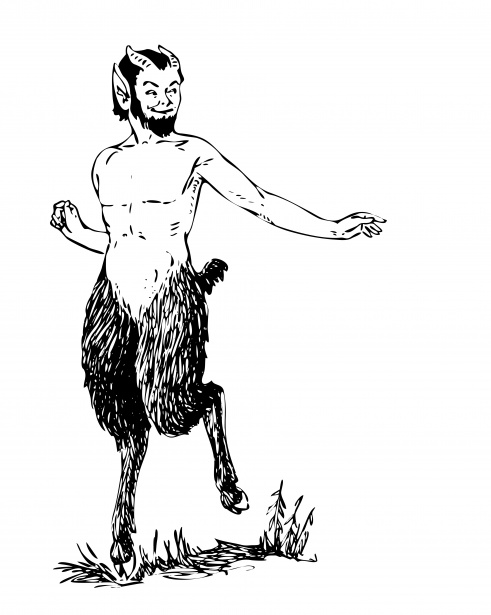 Mythical Faun Clipart Free Stock Photo.
