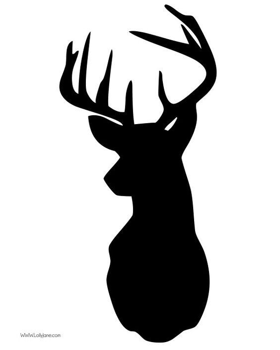 faux deer head pallet art.