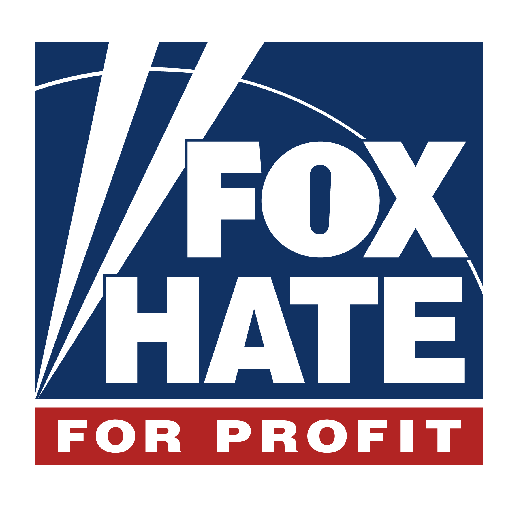 New Fox News Logo with accurate slogan : FauxNews.