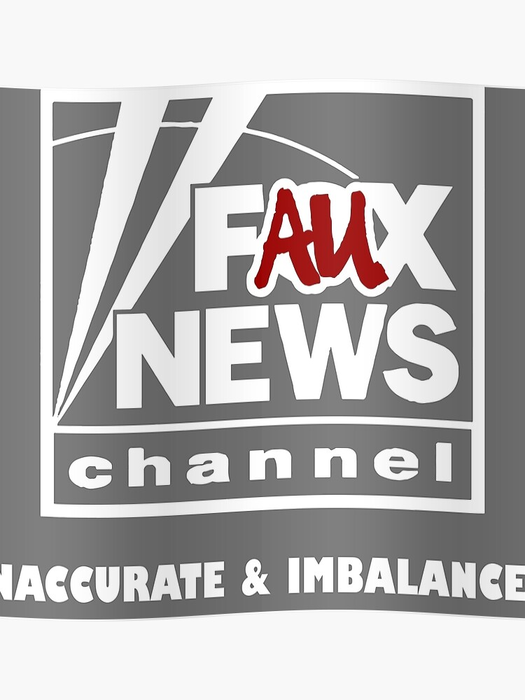Faux News White Logo.
