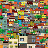 Clipart of Favela k16335814.