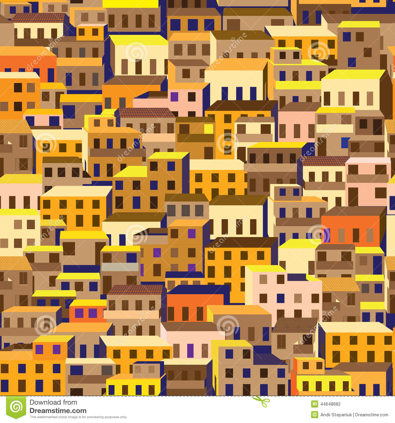 Favela Stock Illustrations.