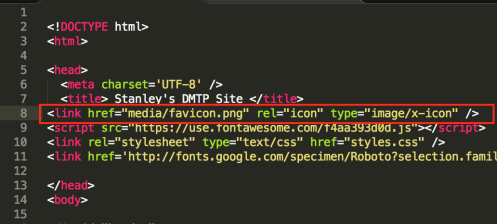 How to add a favicon to your site.