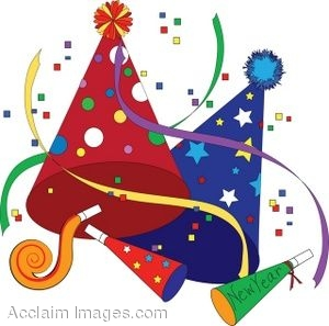 New year party favor clipart.