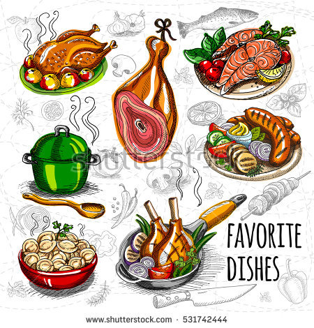 Dish Vector Stock Photos, Royalty.