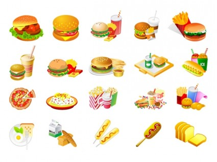 Food cliparts.