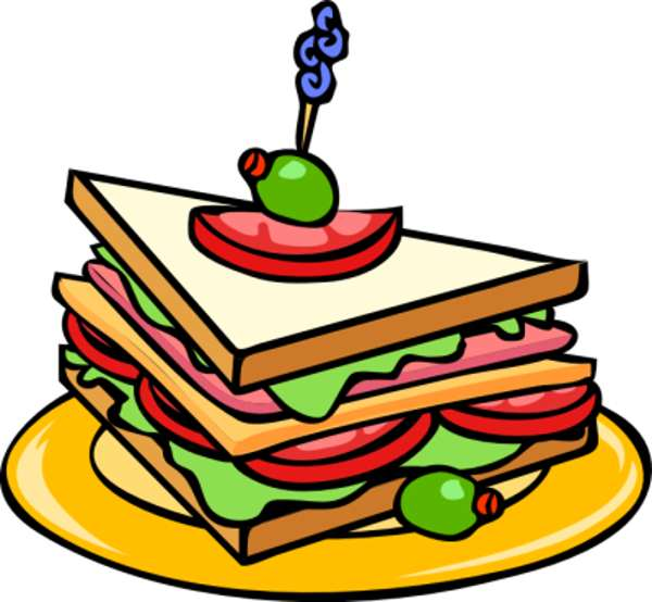 a plate of food clipart #1
