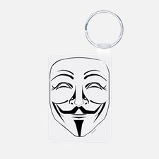 Guy Fawkes Mask Clipart. Keychains.