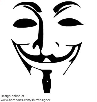 Guy Fawkes Mask Clip Art.