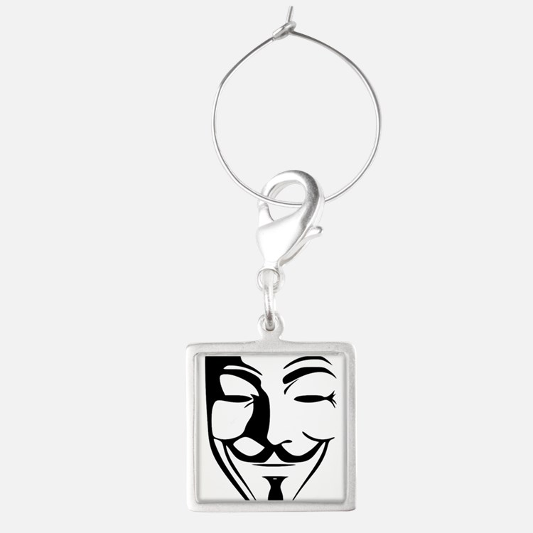Guy Fawkes Mask Clipart. Wine Charms.