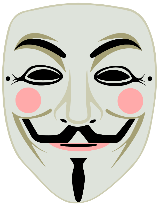 Anonymous mask clipart.