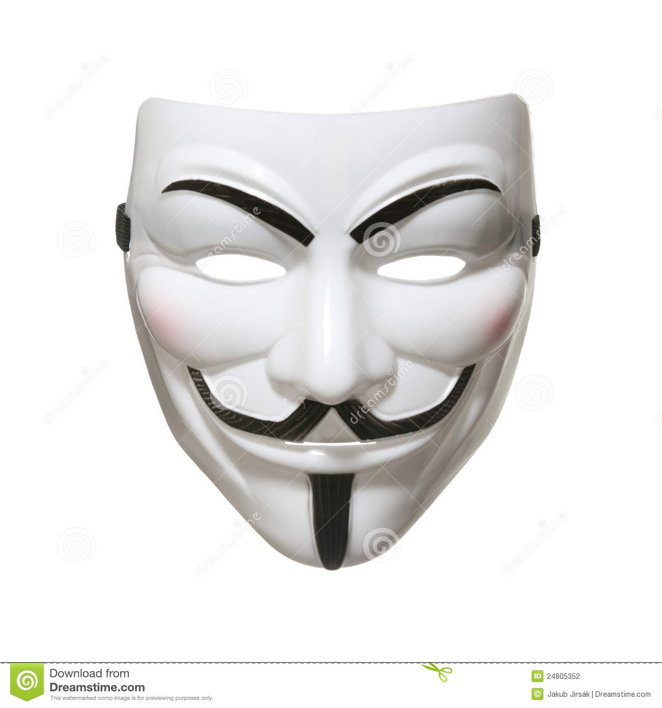 Anonymous Mask (Guy Fawkes Mask) Editorial Photography.