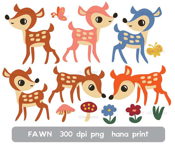 Items similar to Fawn Clip Art on Etsy.