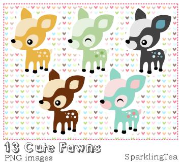 Cute Fawns Clipart set by SparklingTea on DeviantArt.