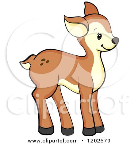 Cartoon of a Cute Deer Fawn.
