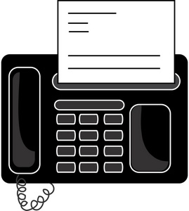 Office Fax Machine Clipart Image.