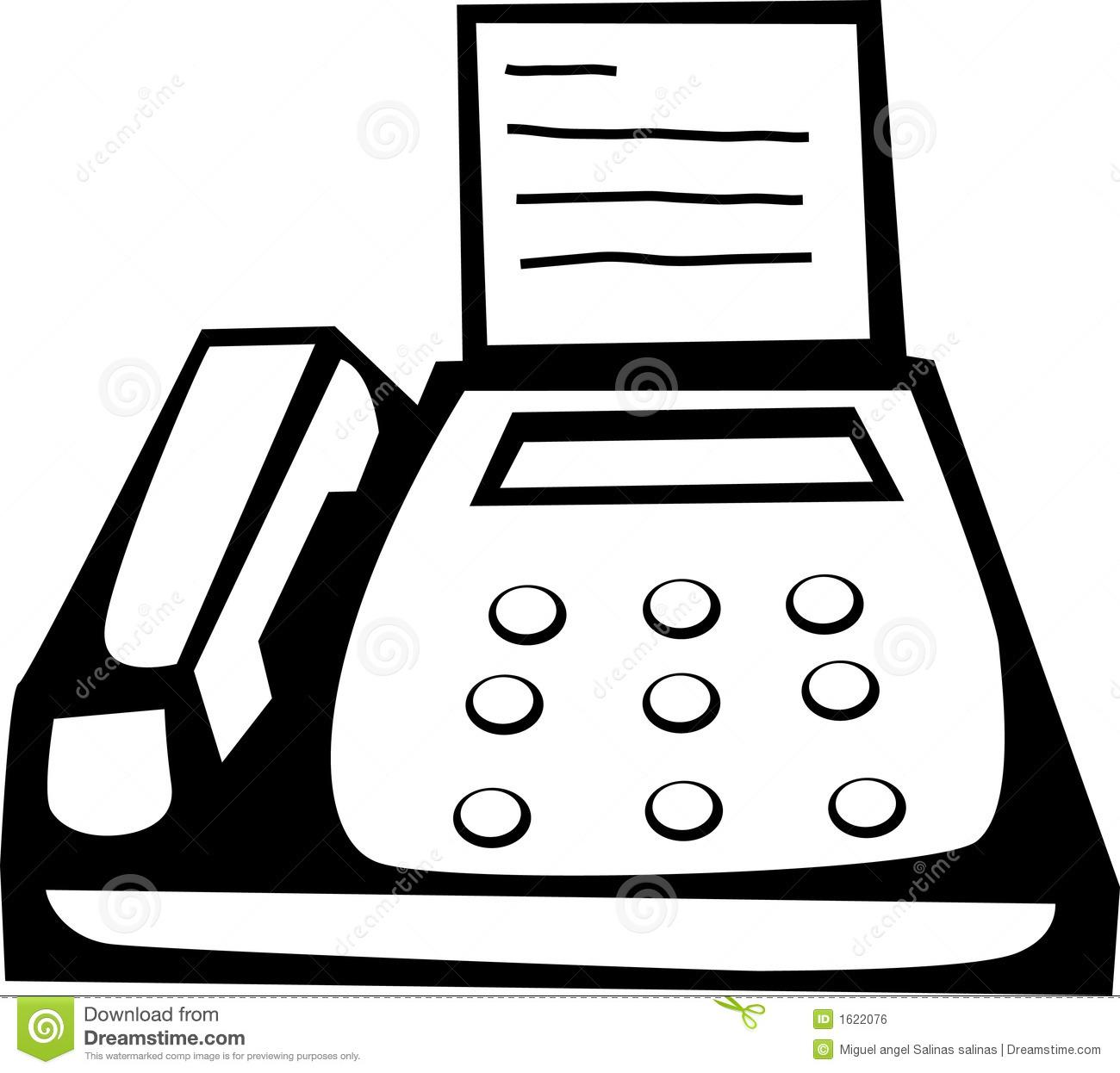 Fax machine vector.
