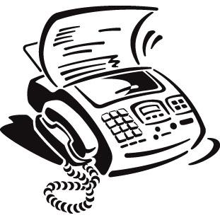 Fax Machine Clipart.