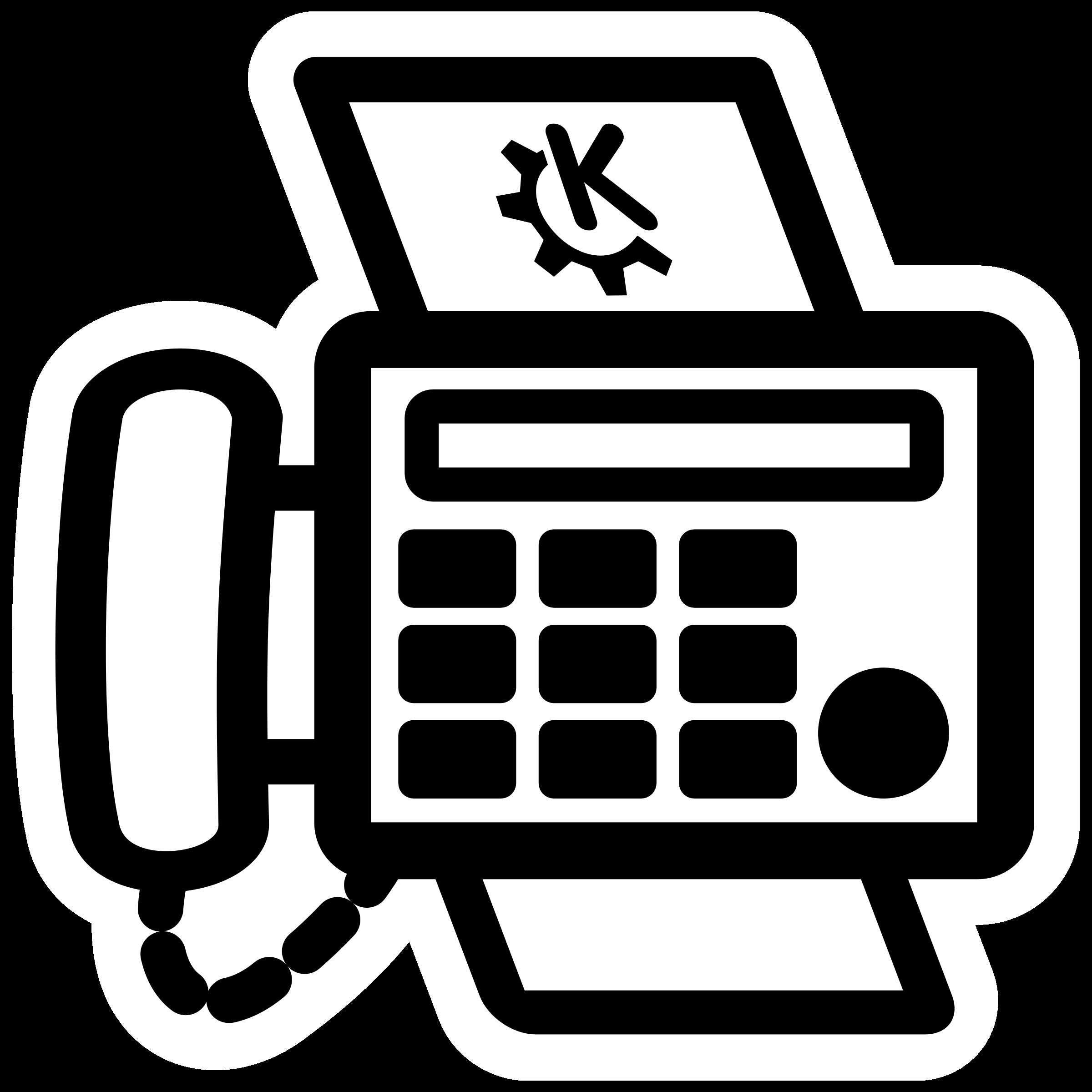 Clipart fax symbol.