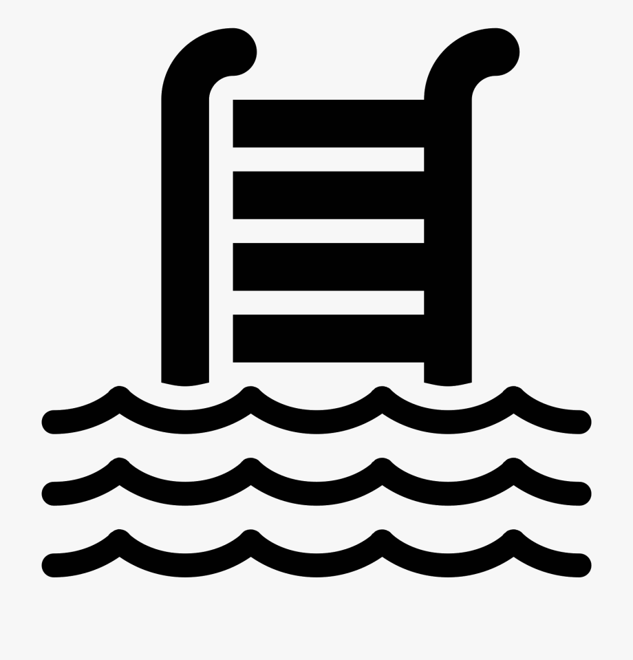 Swimming Pool Filled Icon.