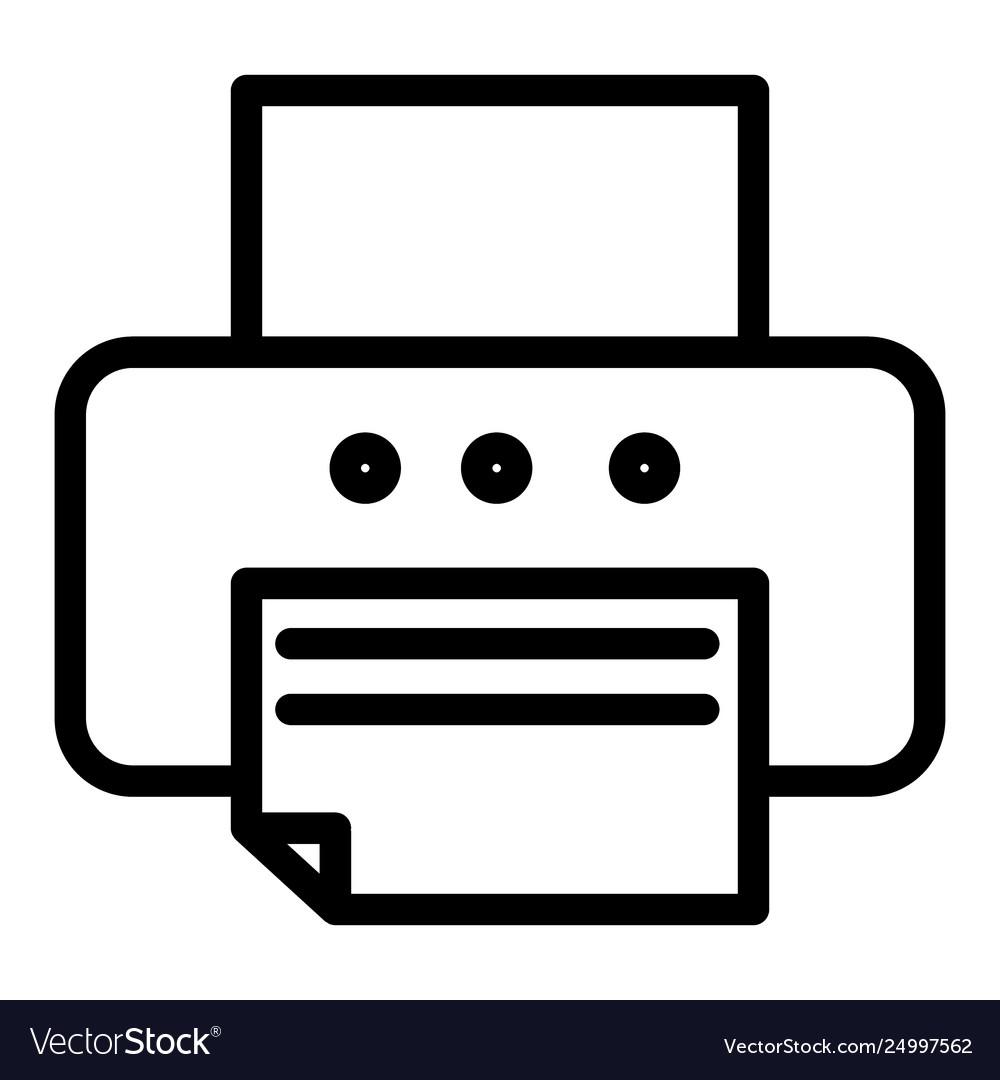 Printer line icon fax.