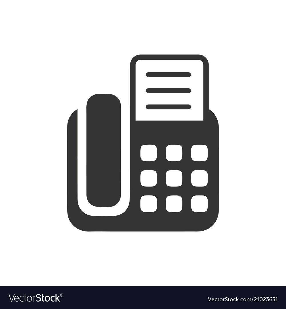 Fax machine icon.