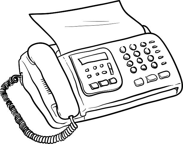 Fax Machine Vector » Clipart Station.