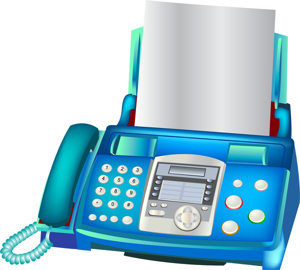 Fax machine clipart 3 » Clipart Station.