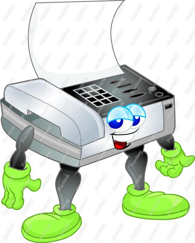 Free Clipart Fax Machine.