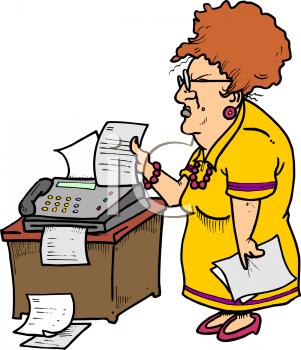 Fax machine pictures clip art.