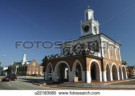 Stock Image of Fayetteville, NC, North Carolina, Downtown, The.