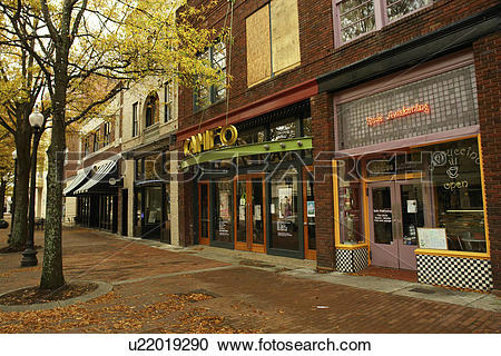 Stock Photography of Fayetteville, NC, North Carolina, Downtown.