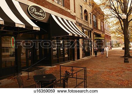 Stock Photograph of Fayetteville, NC, North Carolina, Downtown.