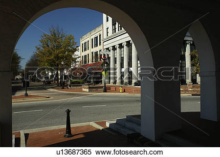 Stock Image of Fayetteville, NC, North Carolina, Downtown from The.
