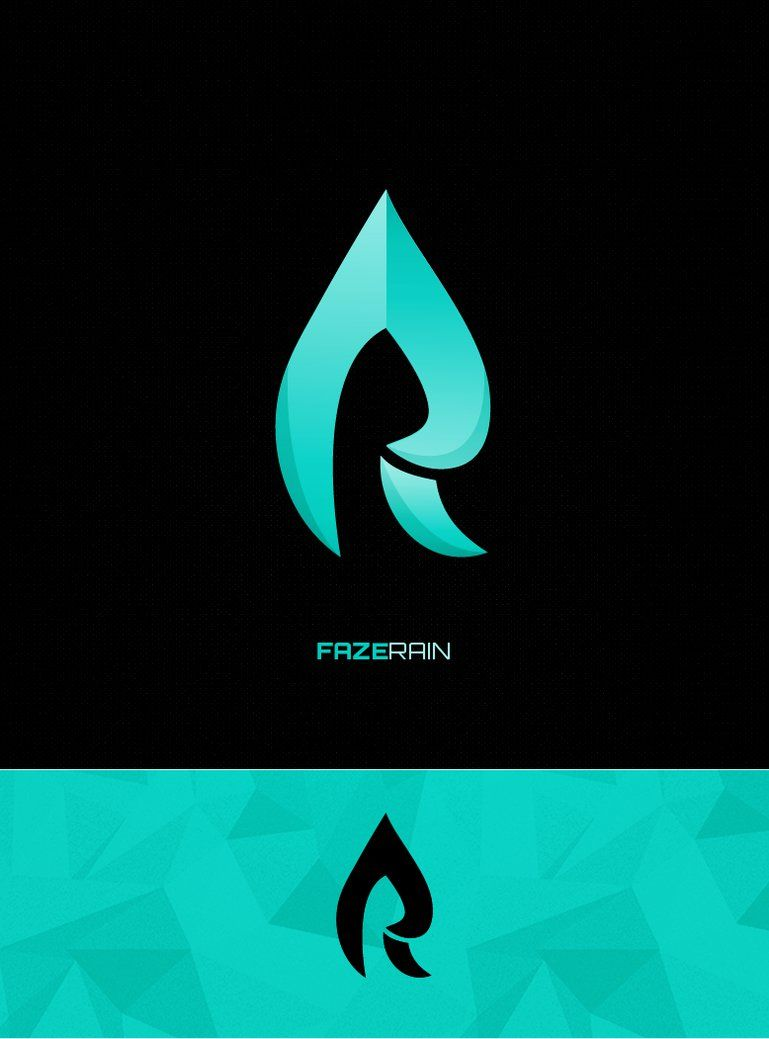 Winning logo completed for Faze Rain\'s logo competition.