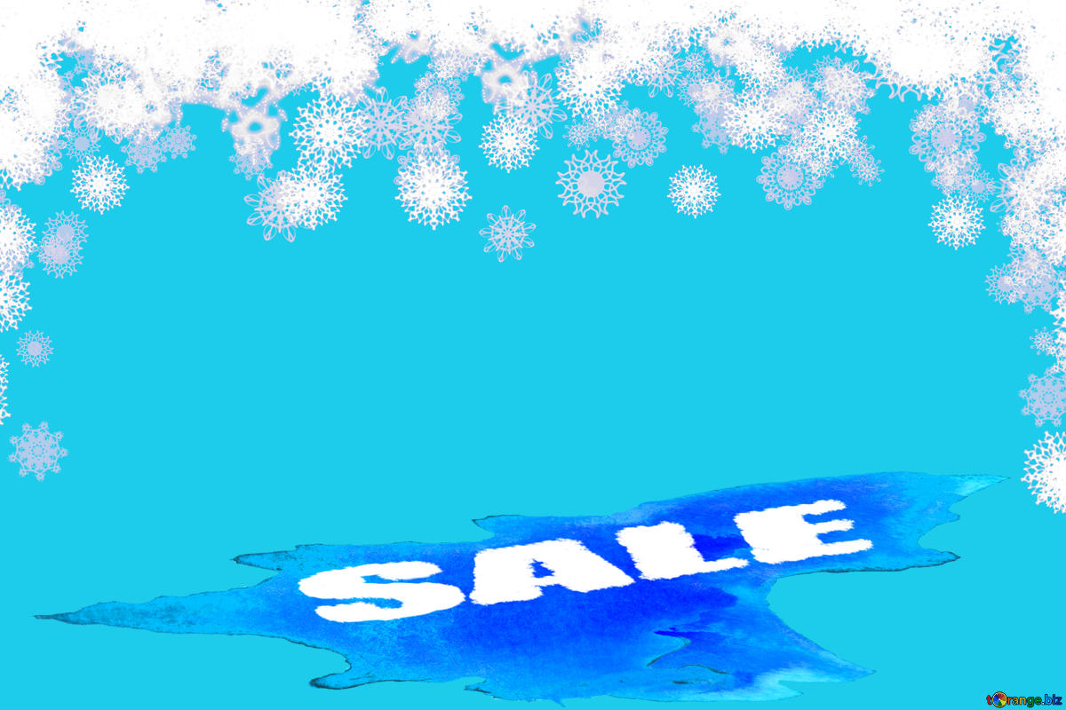 Baixar foto grátis Clipart snowflakes discount sale Winter.