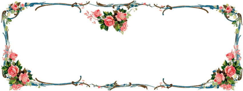 ♥ Freebie Images: Matching Victorian Rose Banner and.